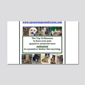 OPEN ARMS POUND RESCUE SPAY OR NEUTER 20x12 Wall D