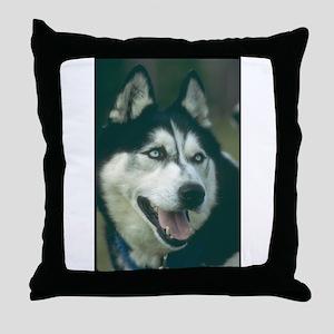 Siberian Husky Photo Throw Pillow