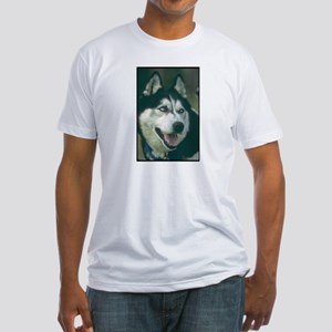 Siberian Husky Photo Fitted T-Shirt