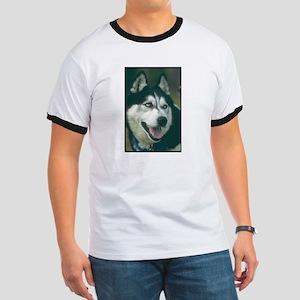 Siberian Husky Photo Ringer T