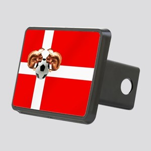 Danish Football Flag Rectangular Hitch Cover