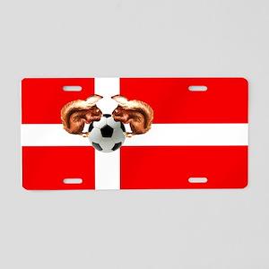Danish Football Flag Aluminum License Plate