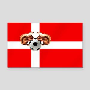Danish Football Flag Rectangle Car Magnet