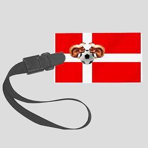 Danish Football Flag Large Luggage Tag