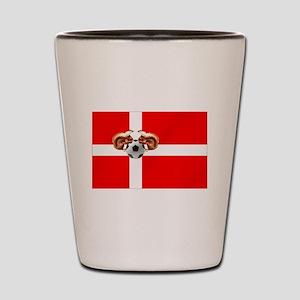 Danish Football Flag Shot Glass