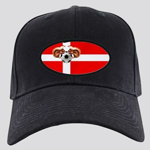Danish Football Flag Black Cap
