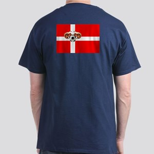 Danish Football Flag Dark T-Shirt