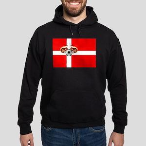 Danish Football Flag Hoodie (dark)