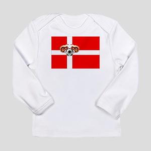 Danish Football Flag Long Sleeve Infant T-Shirt
