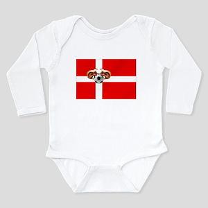 Danish Football Flag Long Sleeve Infant Bodysuit