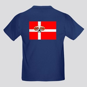 Danish Football Flag Kids Dark T-Shirt