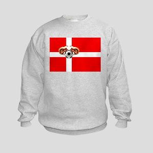Danish Football Flag Kids Sweatshirt