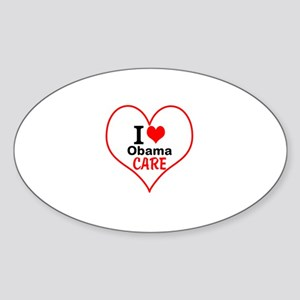 I (heart) Obama Care Sticker (Oval)