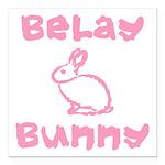 Belay Bunny Square Car Magnet 3