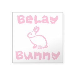 Belay Bunny Square Sticker 3