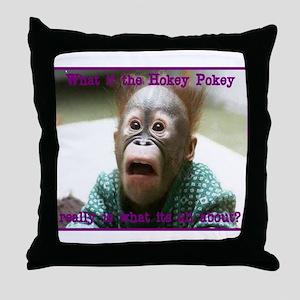 Hokey Pokey Orangutan Throw Pillow