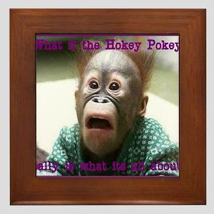 Hokey Pokey Orangutan Framed Tile