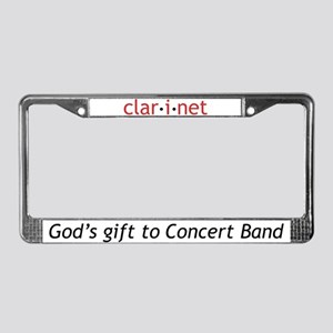 Concert Clarinet Definition License Plate Frame