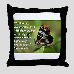 Butterfly Romans 1:20 Throw Pillow
