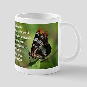 Butterfly Romans 1:20 Mug