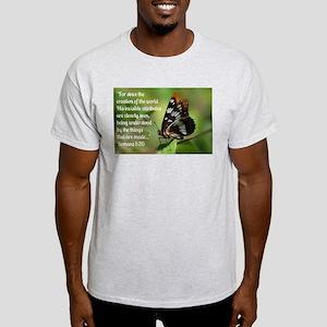 Butterfly Romans 1:20 Light T-Shirt