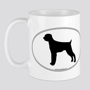 Wirehaired Pointer Silhouette Mug