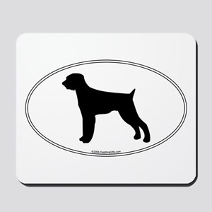 Wirehaired Pointer Silhouette Mousepad