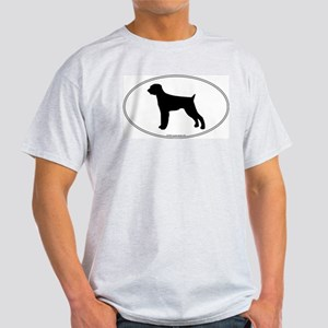 Wirehaired Pointer Silhouette Ash Grey T-Shirt