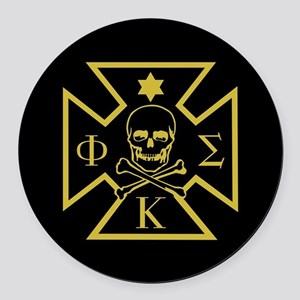 Phi Kappa Sigma Badge Round Car Magnet