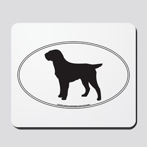 Pointing Griffon Silhouette Mousepad