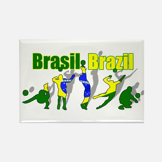 Brazil Volleyball Rectangle Magnet