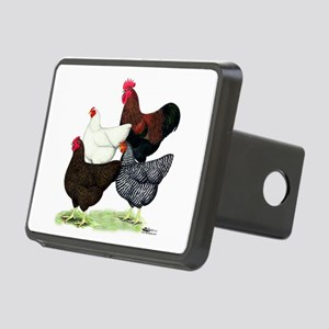 Plymouth Rock Chickens Rectangular Hitch Cover