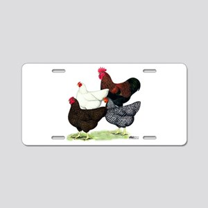 Plymouth Rock Chickens Aluminum License Plate