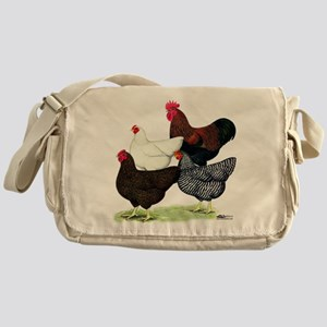 Plymouth Rock Chickens Messenger Bag