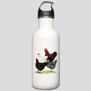 Plymouth Rock Chickens Stainless Water Bottle 1.0L