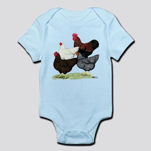 Plymouth Rock Chickens Infant Bodysuit