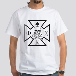 Phi Kappa Sigma Badge White T-Shirt