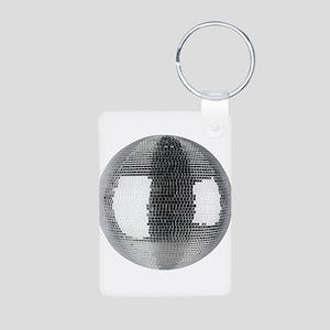 Mirror Ball Aluminum Photo Keychain