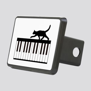 Cat and Piano v.1 Rectangular Hitch Cover