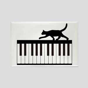 Cat and Piano v.1 Rectangle Magnet