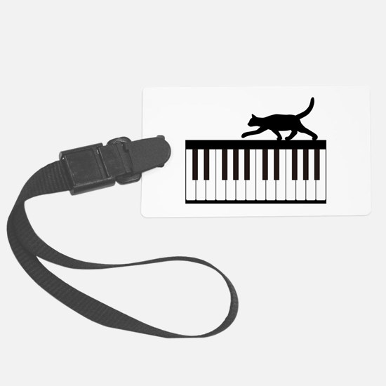 Cat and Piano v.1 Luggage Tag