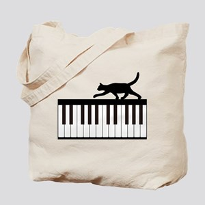 Cat and Piano v.1 Tote Bag