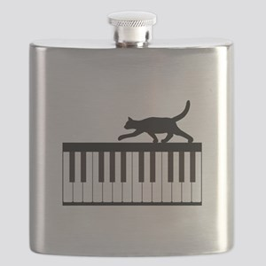 Cat and Piano v.1 Flask