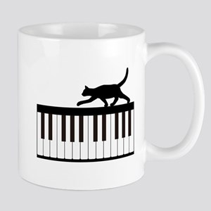 Cat and Piano v.1 Mug