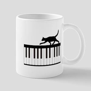 Cat and Piano v.1 Mug