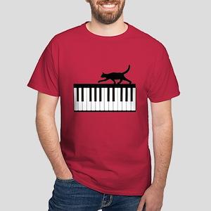 Cat and Piano v.1 Dark T-Shirt