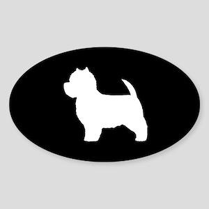 Westie Sticker (Oval)