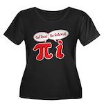Get Real Women's Plus Size Scoop Neck Dark T-Shirt
