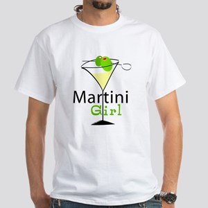 Martini Girl White T-Shirt