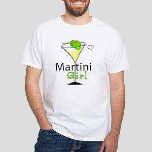 Martini Girl White T-Shirt